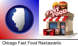 Chicago, Illinois - a fast food restaurant