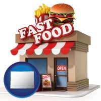 co map icon and a fast food restaurant