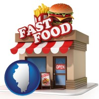 il map icon and a fast food restaurant