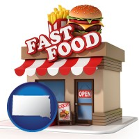sd map icon and a fast food restaurant