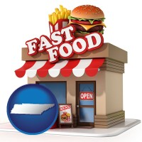 tn a fast food restaurant
