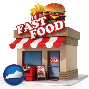 a fast food restaurant - with Kentucky icon