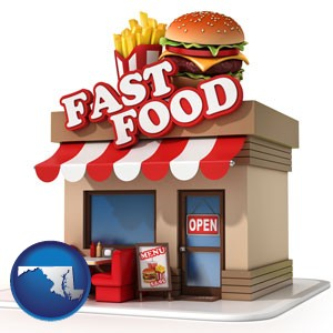 a fast food restaurant - with Maryland icon