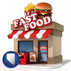 a fast food restaurant - with Nevada icon